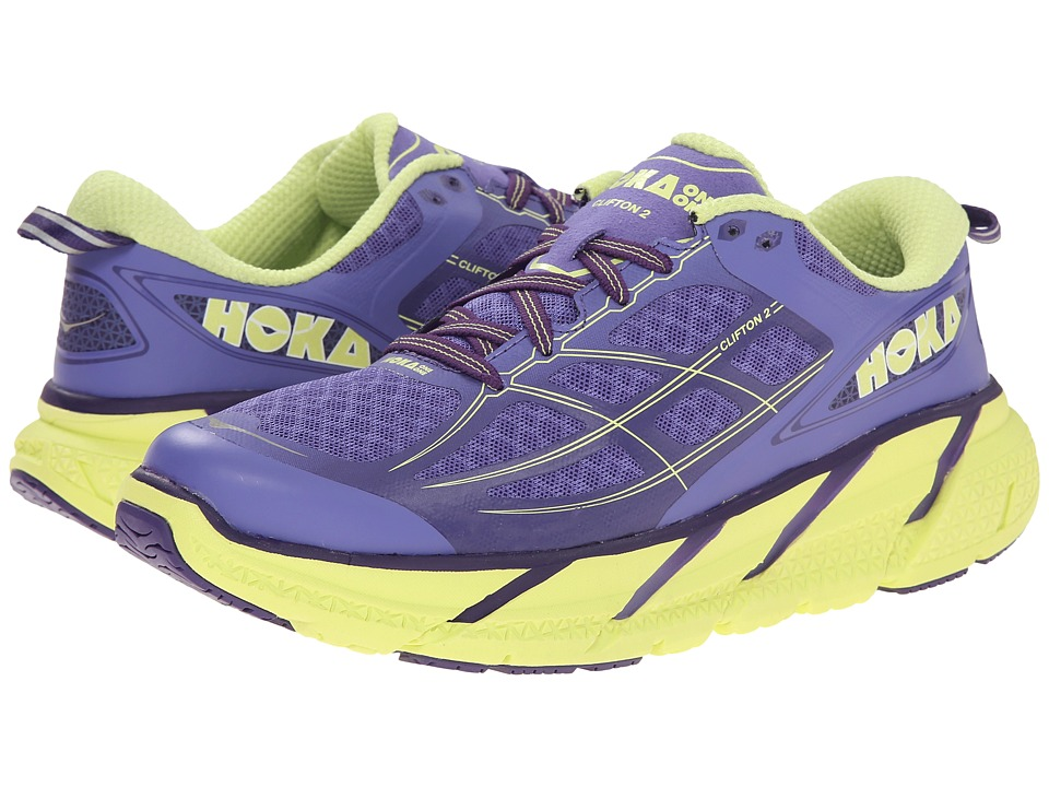 Hoka One One Clifton 2 Corsican Blue/Sunny Lime Womens Running Shoes