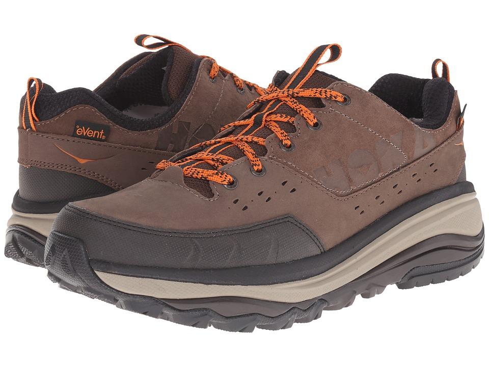 Hoka One One - Tor Summit WP (Brown/Burnt Orange) Mens Running Shoes