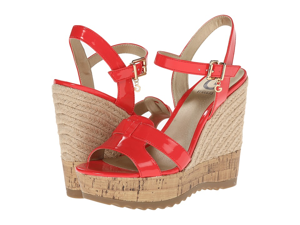G by GUESS - Pretty (Poppy Red) Women's Wedge Shoes