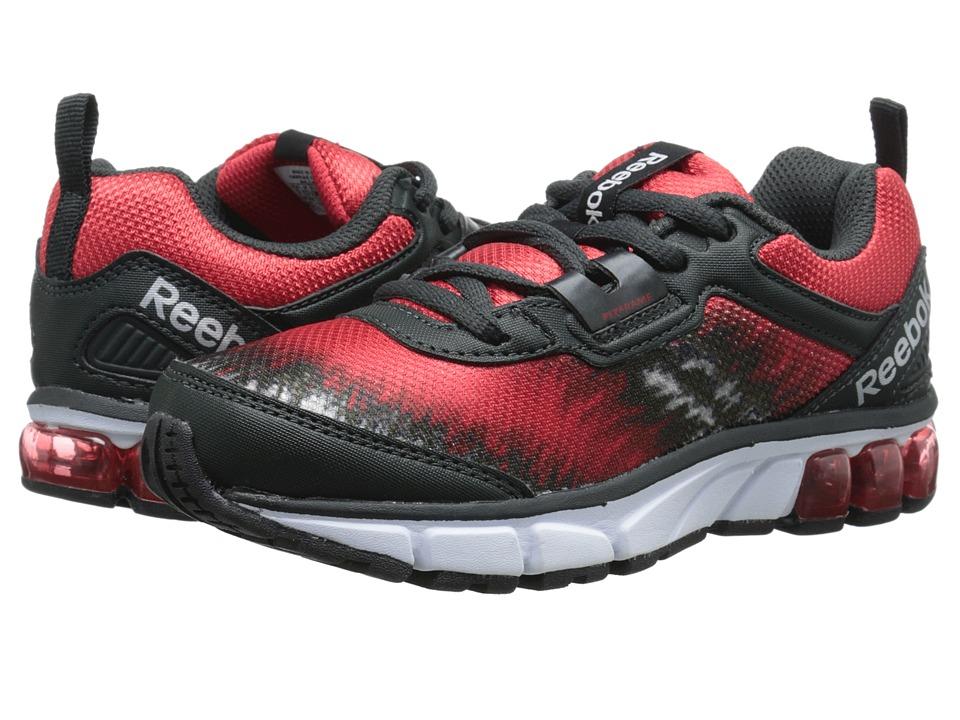 Reebok Kids - Jet Dashride (Little Kid) (Flat Grey/Gravel/Red Rush) Boys Shoes
