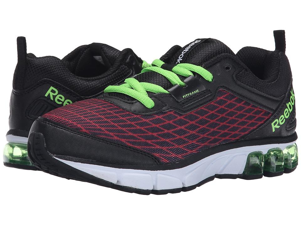 Reebok Kids - Jet Dashride (Little Kid) (Red Rush/Black/Solar Green) Boys Shoes