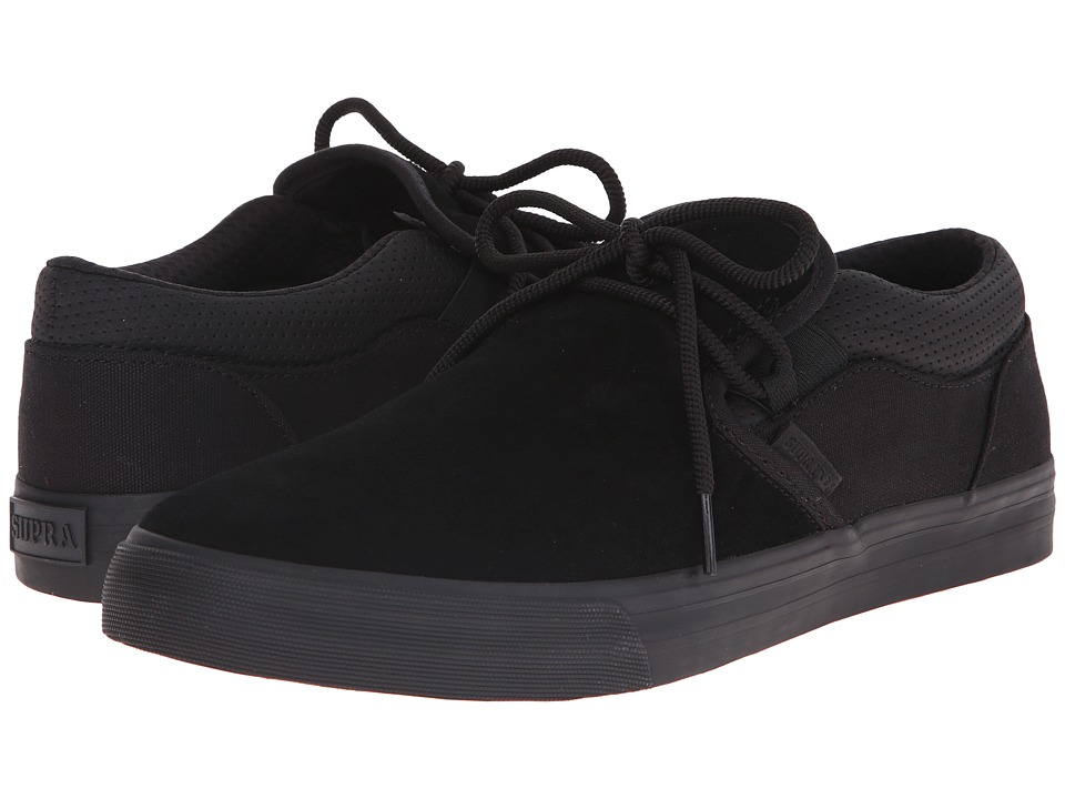 Supra Cuba Black Suede/Canvas Mens Skate Shoes