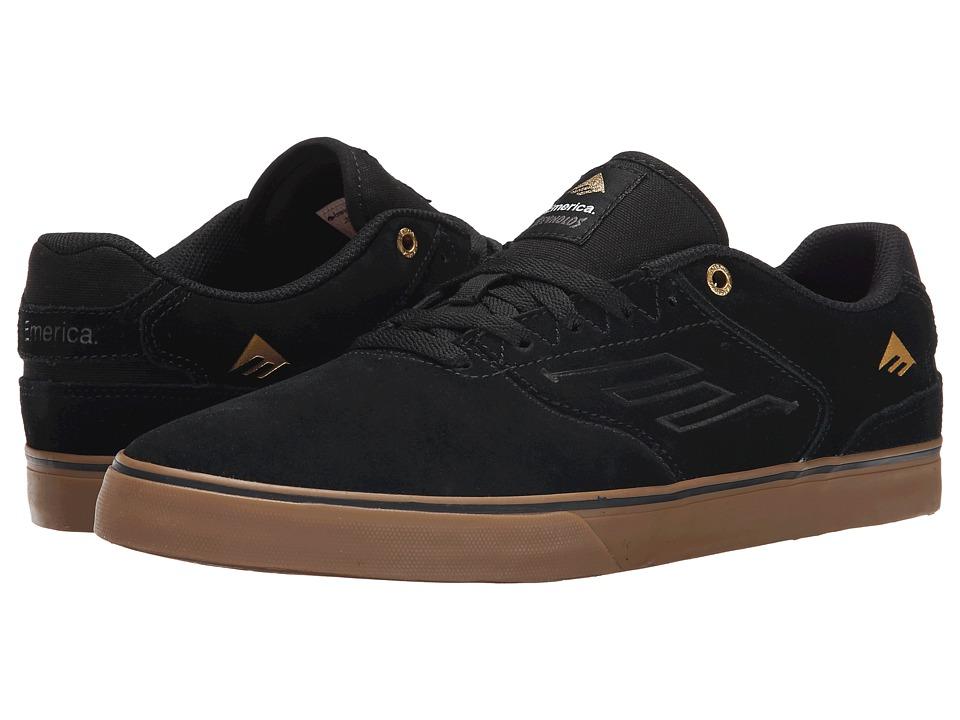 Emerica The Reynolds Low Vulc Black/Gum Mens Skate Shoes