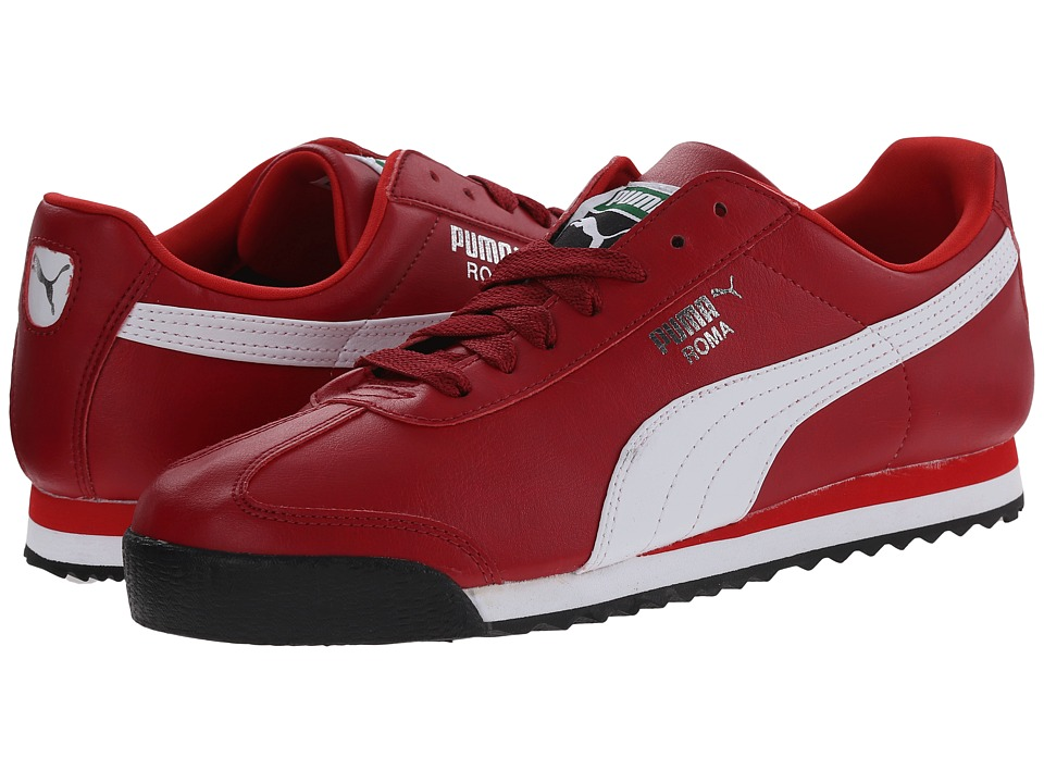 PUMA - Roma Basic (Rio Red/White) Mens  Shoes