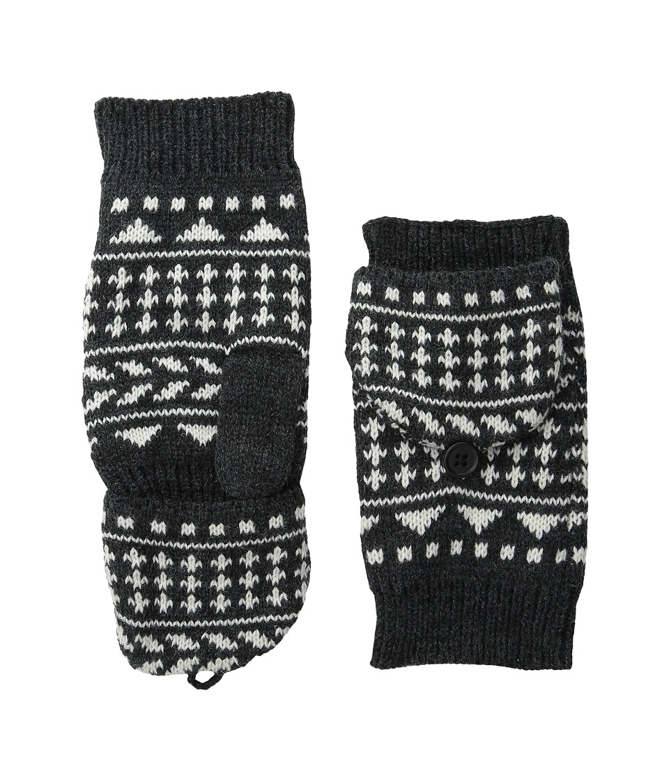 Pistil Nessie Mitten Charcoal Over Mits Gloves