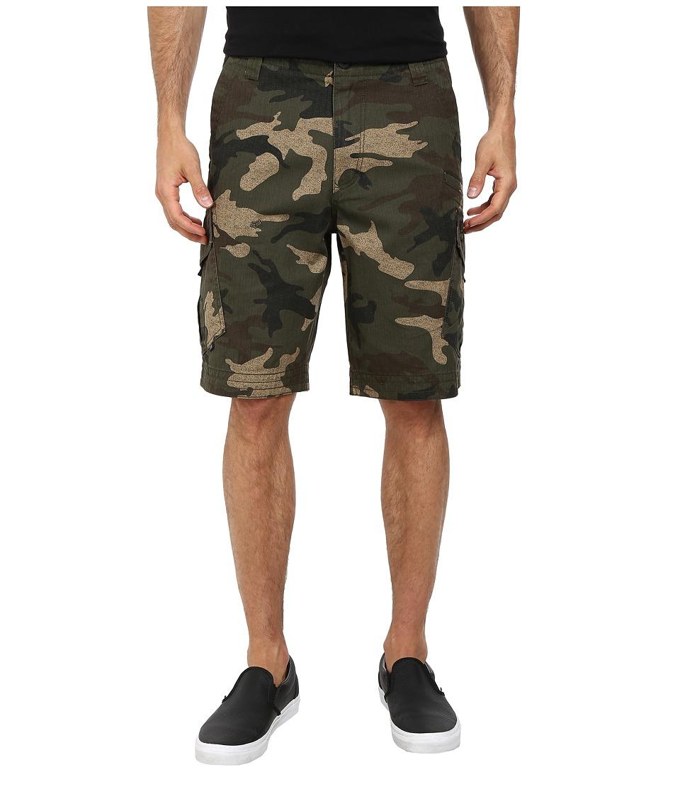 Fox Slambozo Cargo Camo Shorts Green Camo Mens Shorts