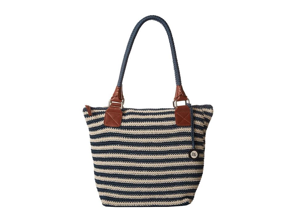 The Sak - Cambria Large Tote (Vintage/Eggshell Stripe) Shoulder Handbags