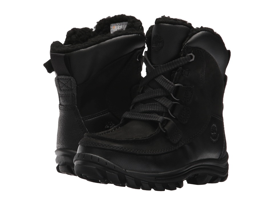 Timberland Kids Chillberg Premium Waterproof Insulated (Toddler/Little Kid) (Black Nubuck) Boys Shoes
