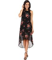 Karen Kane - Rose Print Hi-Lo Dress