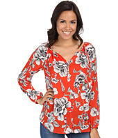 Karen Kane - Etched Floral Peasant Top