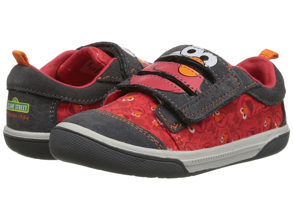 Stride Rite Sesame Street Elmo 3 Strap Toddler Grey/Red Boys Shoes
