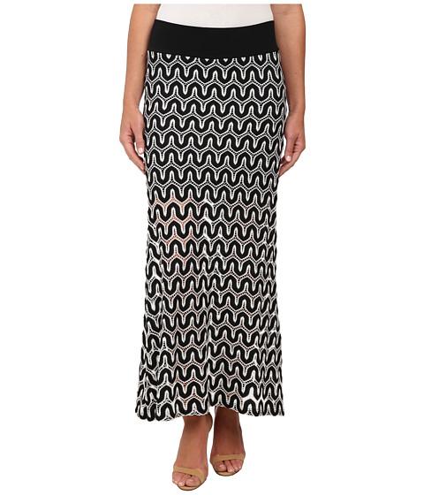 crochet maxi skirt black white zappos