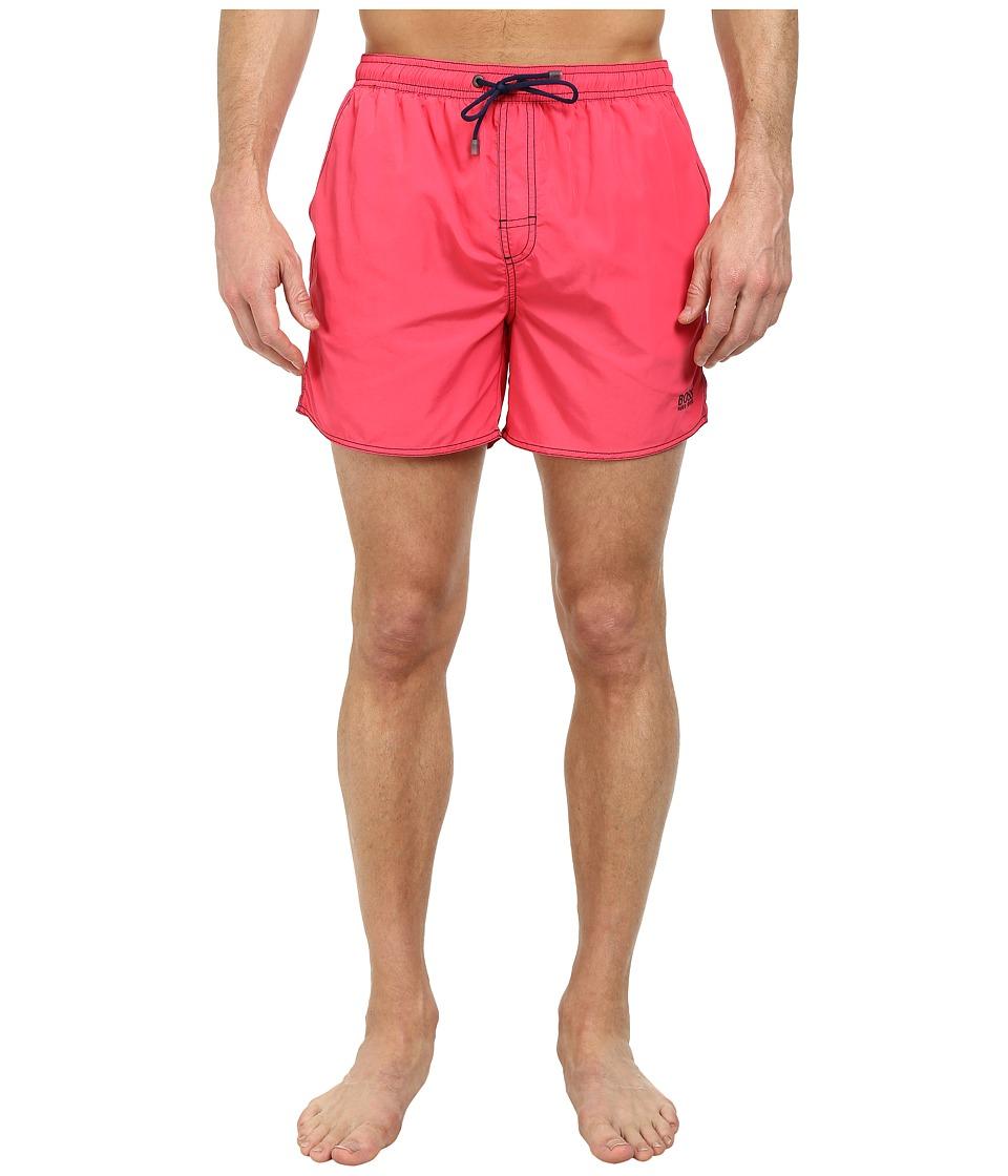 BOSS Hugo Boss Lobster 10155742 01 Swim Shorts Dark Pink Mens Swimwear