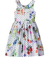 Oscar de la Renta Childrenswear - Botanical Garden Cotton V-Back Dress (Toddler/Little Kids/Big Kids)