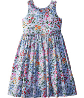 Oscar de la Renta Childrenswear - English Garden Cotton V-Back Dress (Toddler/Little Kids/Big Kids)