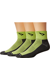 Drymax Sport - Lite Trail Running 1/4 Crew Turn Down 3-Pair Pack