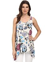 Karen Kane - Artistic Floral Handkerchief Tank Top