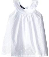Oscar de la Renta Childrenswear - Eyelet Lace Circle Top (Toddler/Little Kids/Big Kids)