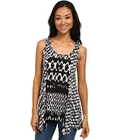 Karen Kane - Tribal Stripe Contrast Tank Top