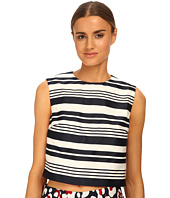 RED VALENTINO - Striped Jacquard Top