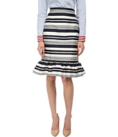 RED VALENTINO - Striped Jacquard Skirt