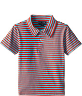 Oscar de la Renta Childrenswear - Double Stripe Pique Polo (Toddler/Little Kids/Big Kids)