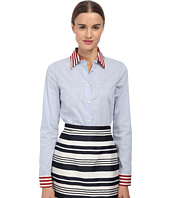 RED VALENTINO - Micro Striped Top