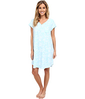 Karen Neuburger - Aqua Fresh Short Sleeve Henley Nightshirt