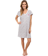 Karen Neuburger - White Hot Short Sleeve Pullover Nightshirt