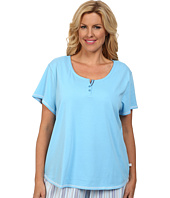 Karen Neuburger - Plus Size Tuileries Short Sleeve Henley Top