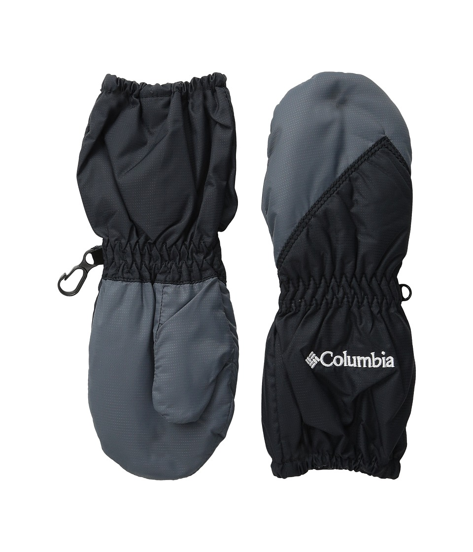 Columbia Chippewatm Long Mitten (Toddler) (Black/Graphite) Extreme Cold Weather Gloves