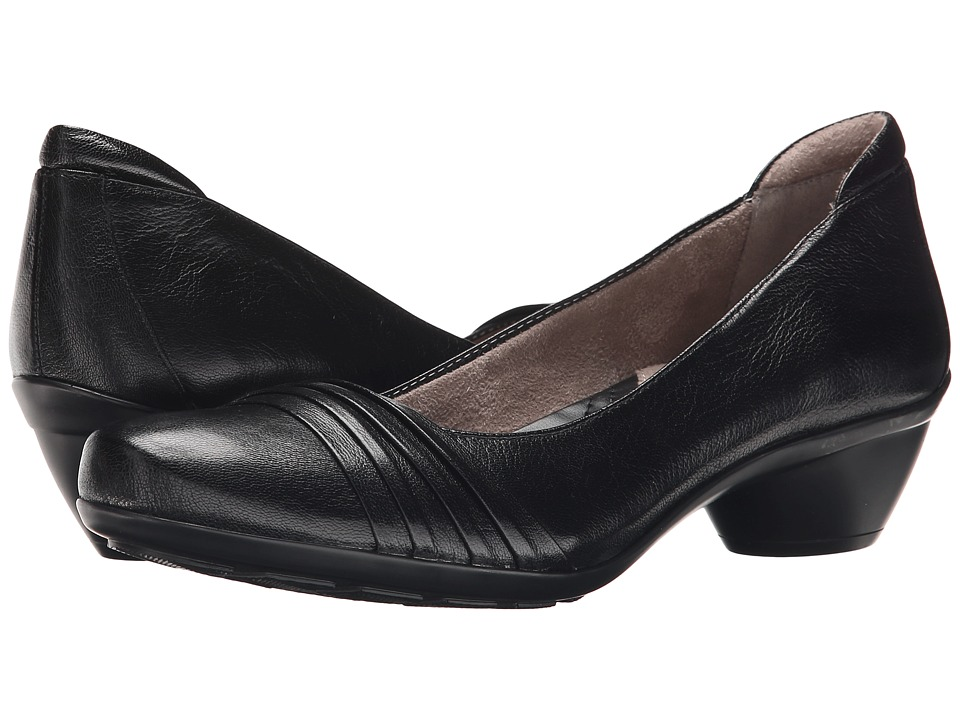 Naturalizer - Halona (Black Leather) Women's Slip-on Dress Shoes