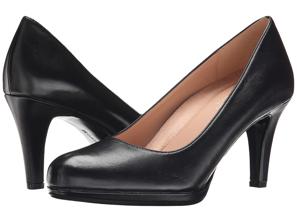 Naturalizer - Michelle (Black Leather) High Heels, wide width