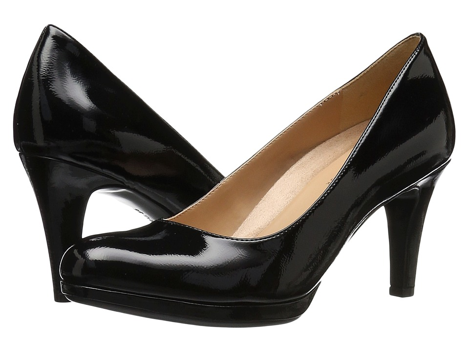 Naturalizer Michelle Black Shiny High Heels