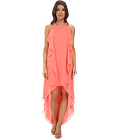 BCBGMAXAZRIA - Kelsia Cascade Ruffle Halter Dress