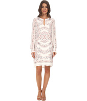 BCBGMAXAZRIA - Freya Long Sleeve Scarf Print Tunic Dress