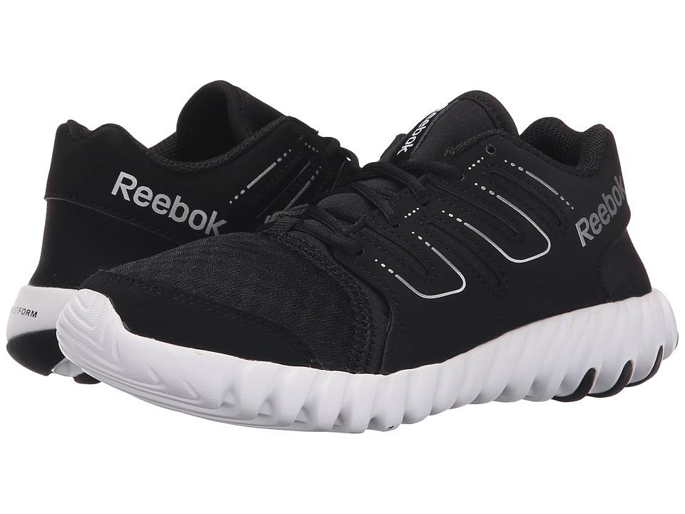 Reebok Kids - Twistform (Little Kid) (Black/White/Silver) Boys Shoes