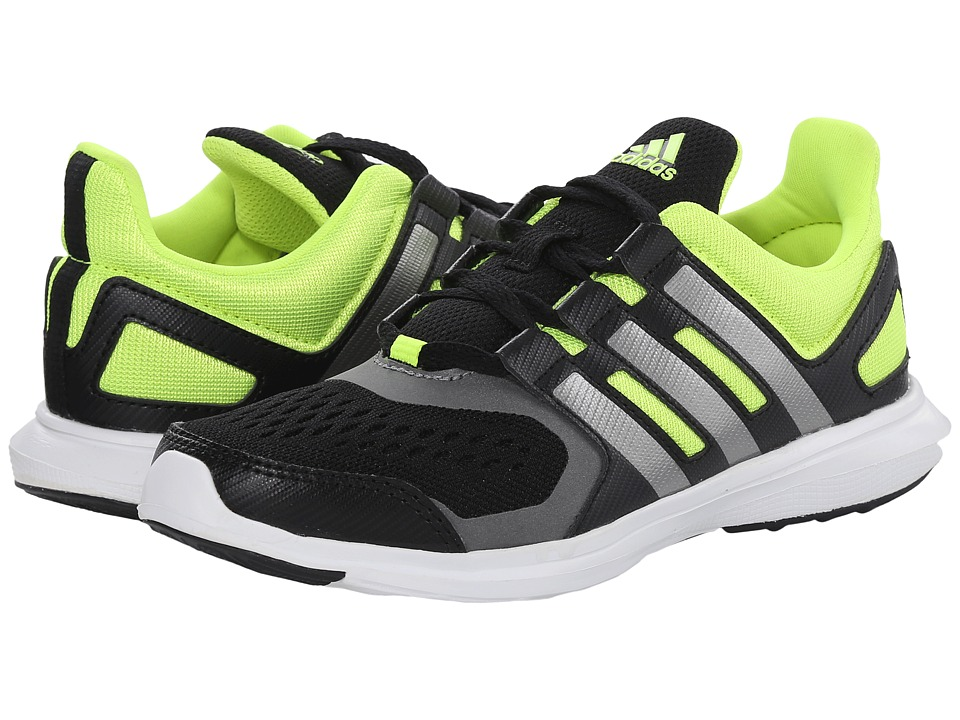 adidas Kids - Hyperfast 2.0 K (Little Kid/Big Kid) (Black/Iron Metallic/Solar Yellow) Boys Shoes