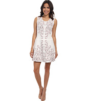 BCBGMAXAZRIA - Wilma Embroidered Floral Garden Jacquard Dress