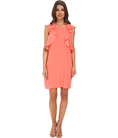BCBGMAXAZRIA - Jenni Ruffle Shoulder Racer Back Dress