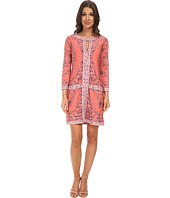BCBGMAXAZRIA - Calico Printed Shift Dress
