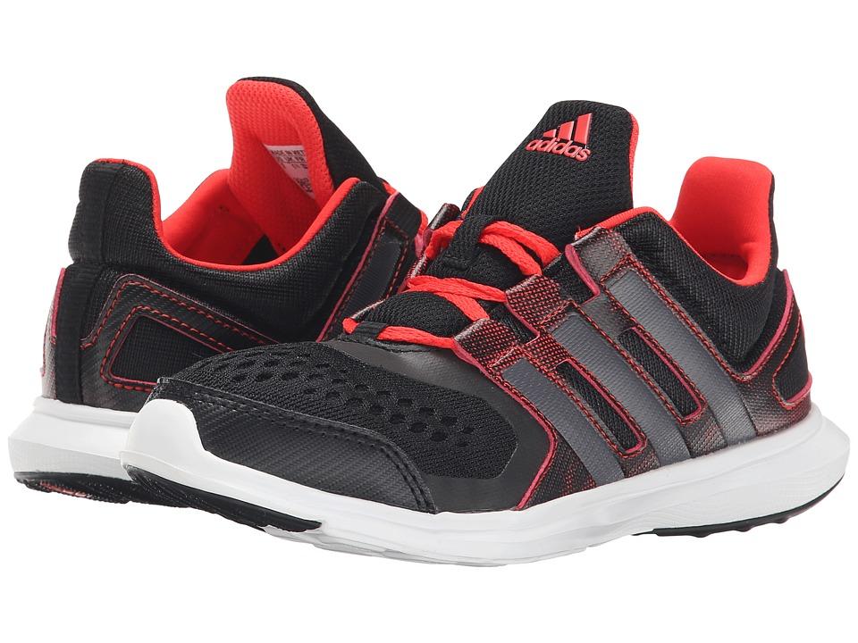 adidas Kids - Hyperfast 2.0 K Print (Little Kid/Big Kid) (Black/Carbon/Scarlet) Boys Shoes