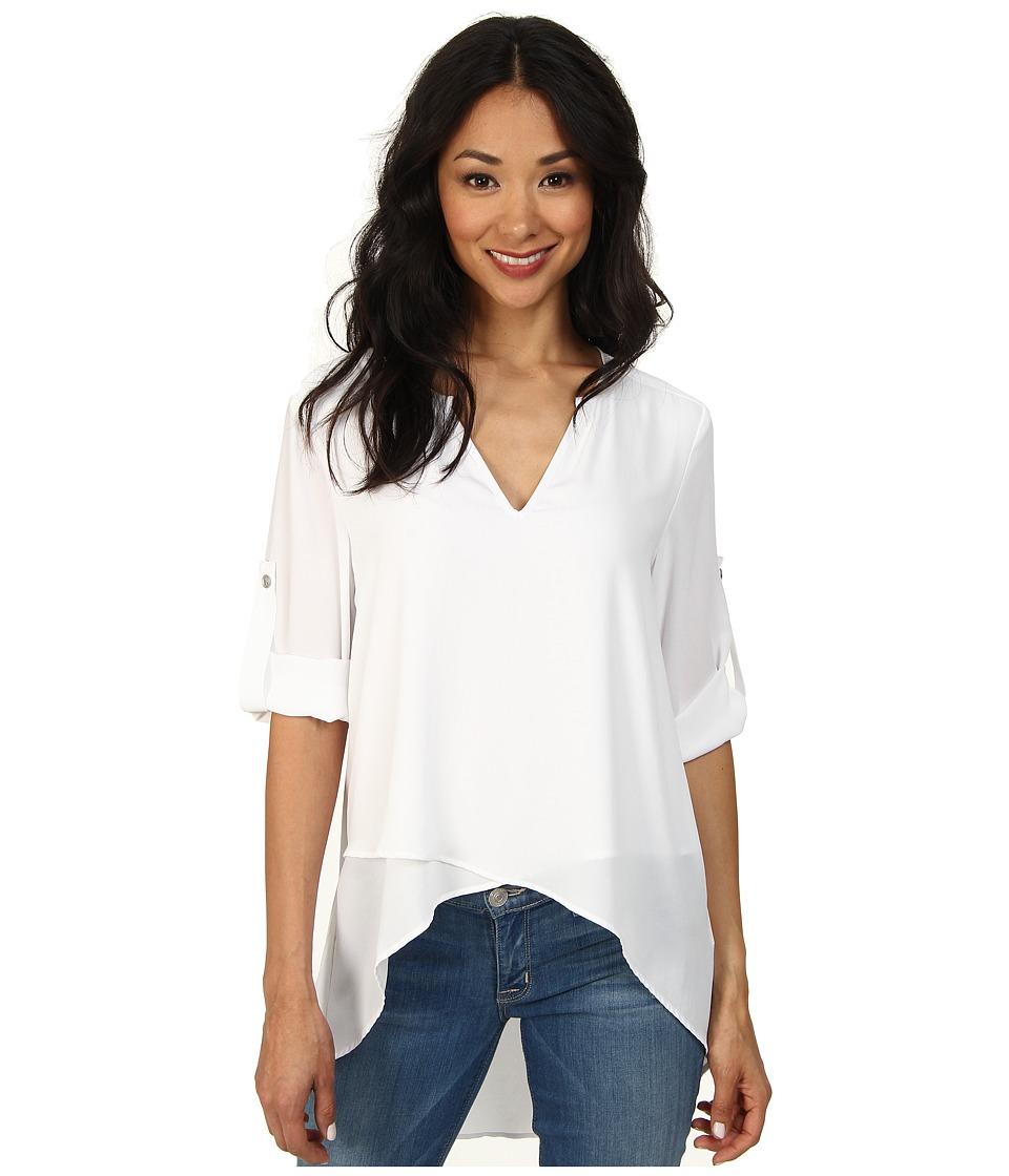 Karen Kane - Asymmetrical Hem Wrap Top (Off White) Womens Blouse