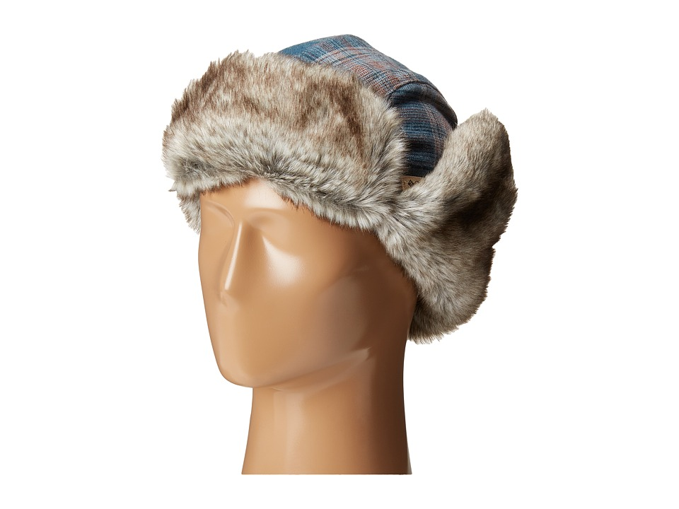 Columbia Nobel Falls II Trapper Everblue Plaid Cold Weather Hats