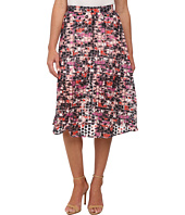 Sam Edelman - Stripe Floral Embroidered Organza Midi Skirt