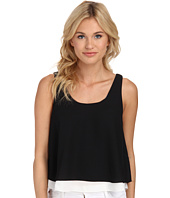 Sam Edelman - Black and White Double Layer Tank w/ Exposed Back Zip