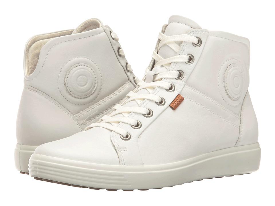 ECCO Soft 7 High Top (White/White)