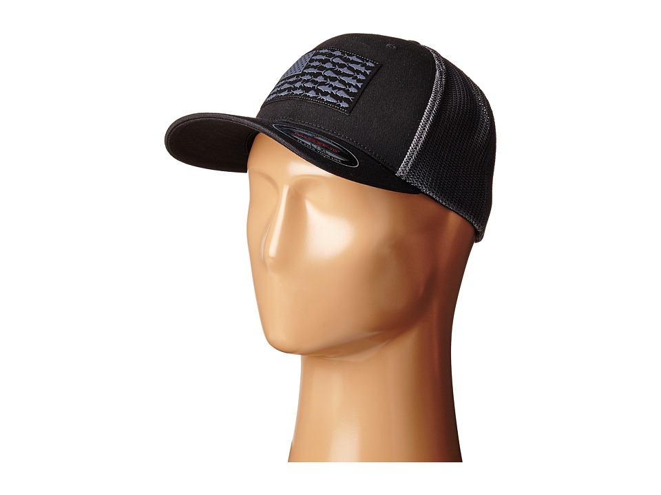Columbia - PFG Meshtm Ball Cap (Black/Fish Flag) Caps