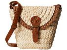 BSB1360 Woven Straw Crossbody Bag w/ Adjustable Strap
