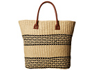 San Diego Hat Company BSB1362 Straw Tote w/ Contrast Color Band